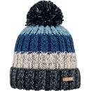 Barts Wilhelm Beanie grau/beige/blau (charcoal)