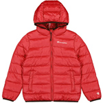 Champion Hooded Jacket Kids Rot (HTR/HTR/ALLOVER)