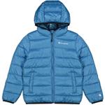Champion Hooded Jacket Kids Hellblau (VAL/VAL/ALLOVER)