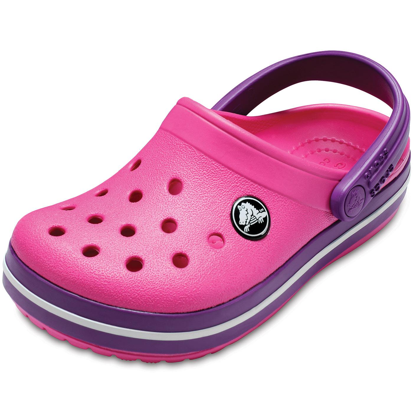 tani zawsze popularny gorąca sprzedaż online Crocs Crocband Kids paradise pink/amethyst - Buciki ...