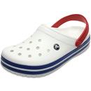Crocs Crocband weiß/blau (white/blue jean)
