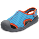 Crocs Swiftwater Sandal Kids cerulean blue/smoke
