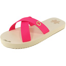 flip*flop Originals Cross Matt beige/pink (neon pink)
