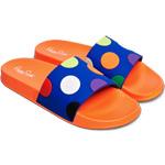 Happy Socks Pool Slider Big Dot Orange/Blau/Mehrfarbig