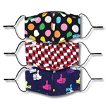 Happy Socks Mixed Face Cover 3-Pack Mehrfarbig