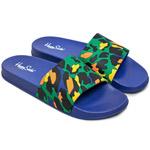 Happy Socks Pool Slider Leopard dunkelblau/mehrfarbig