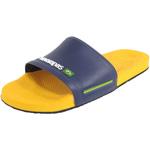 Havaianas Slide Brasil blau/gelb (banana yellow)