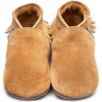Inch Blue Moccasin Suede Hellbraun (Tan)
