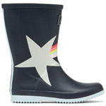 Tom Joule Jnr Roll Up Welly Navy Shooting Star