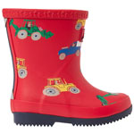 Tom Joule Baby Welly Print red vehicles
