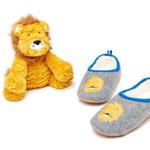 Tom Joule Hausschuh und Stofftier Grey Lion