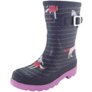 Tom Joule Printed Wellies french navy sea pony