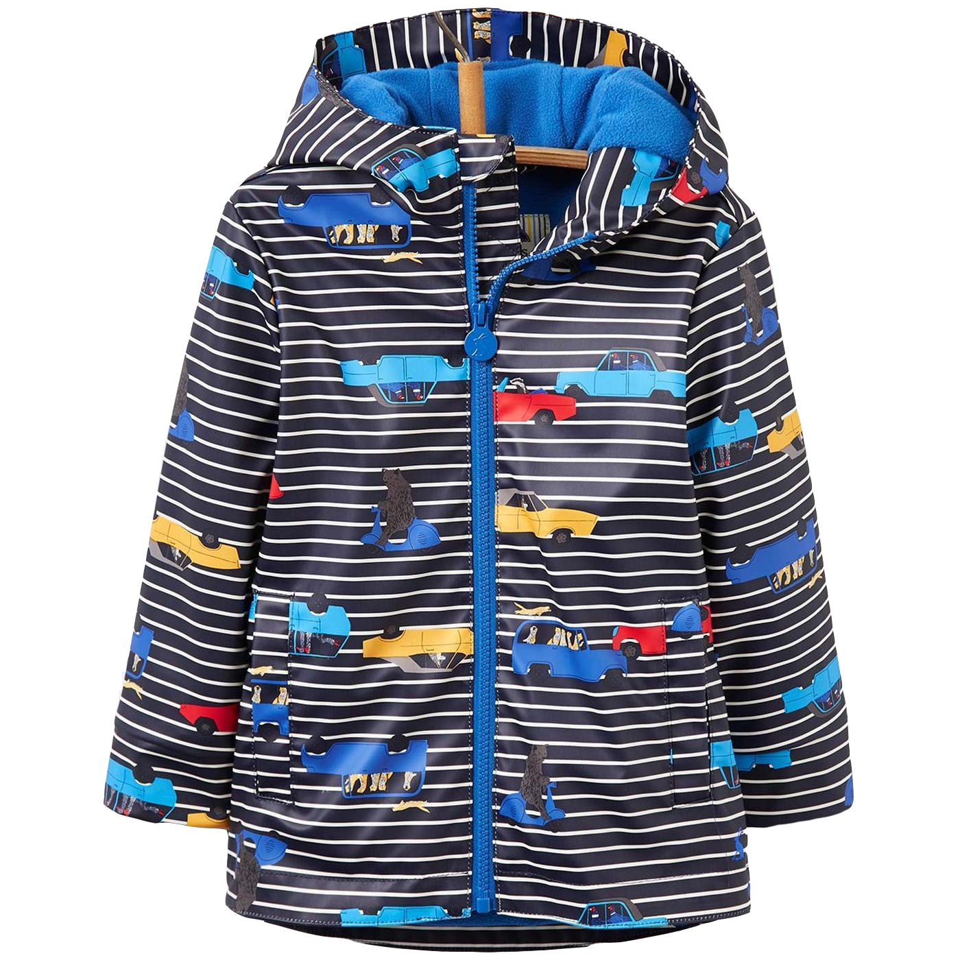 Tom Joule Skipper Waterproof navy stripe cars