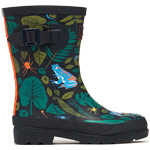 Tom Joule Jnr Welly Print Green Tonal Garden