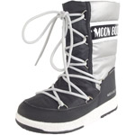 Moon Boot Jr Girl Quilted WP schwarz/silber (black/silver)