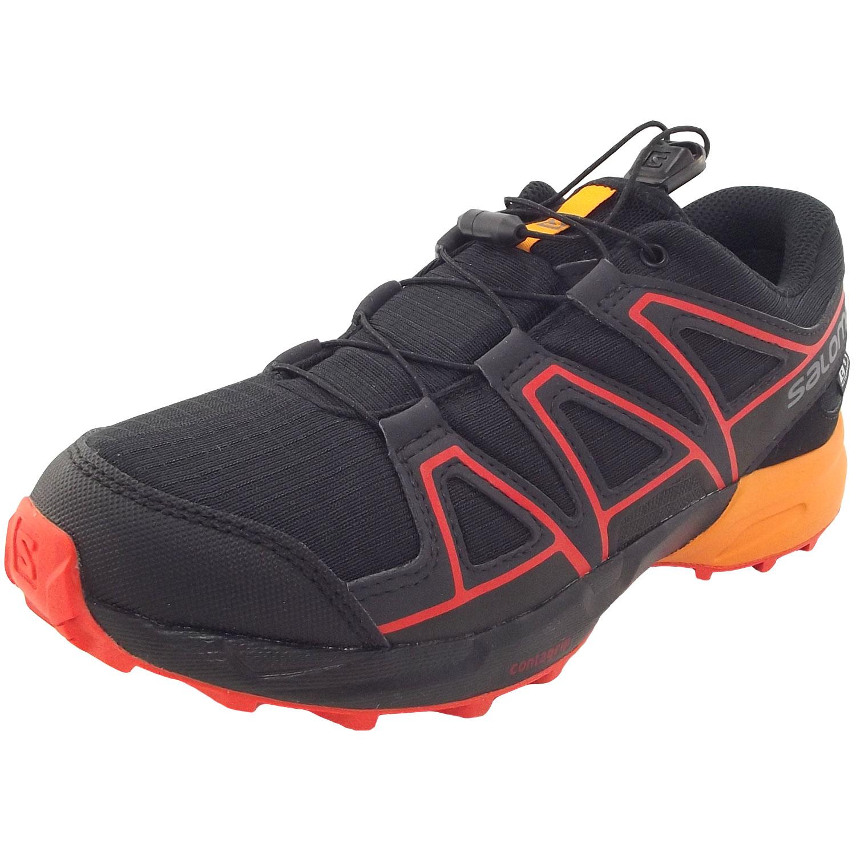 73c17ec5e7cf Salomon Speedcross CSWP J black tangelo cherry tomato - Shoes ...