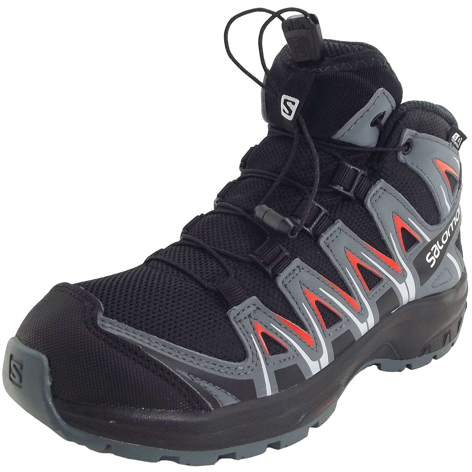 Salomon XA Pro 3D Mid CSWP J black/stormy weather/cherry tomato