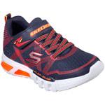 Skechers S Lights Flex-Glow dunkelblau/rot (navy/red)