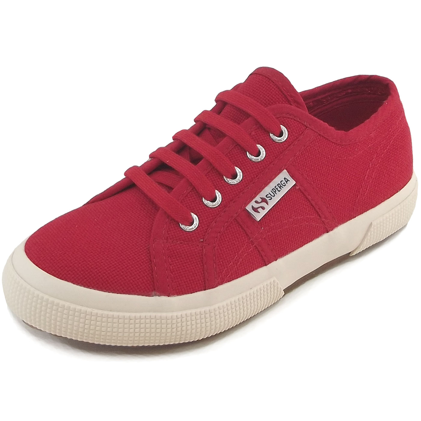Superga 2750 Junior Cotu Classic Kinder Sneaker rot (red), Gr. 31 EU / 12.5 UK Y