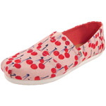 Toms Classic Cherie Print Youth rosa (coral pink/cherry)