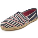 Toms Classic Stripe Rope Wm dunkelblau/rot (navy/red woven)